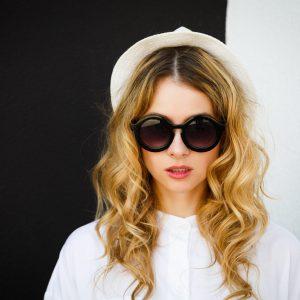 model sunglasses cover